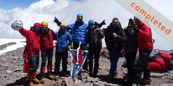 Auf dem Aconcagua-Gipfel - Mission completed 2016 - 7summits4help