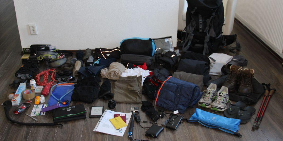 Die Ausrüstung zum Elbrus im Kaukasus