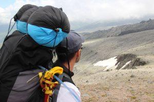 Nicolas Scheidtweiler beim Abstieg vom Highcamp zum Basecamp am 29. Juli 2016