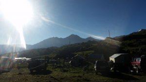 Das Elbrus-Basecamp am Morgen