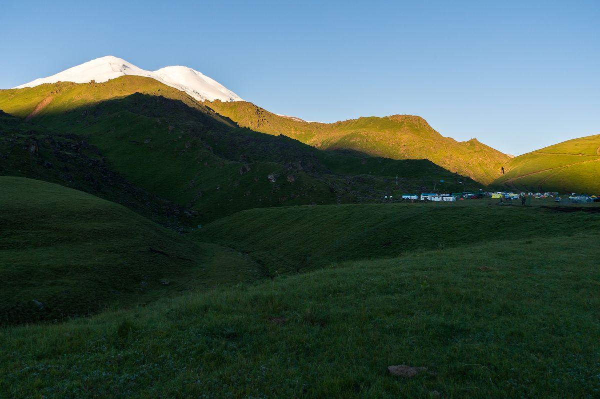 Morgensonne auf dem Elbrus