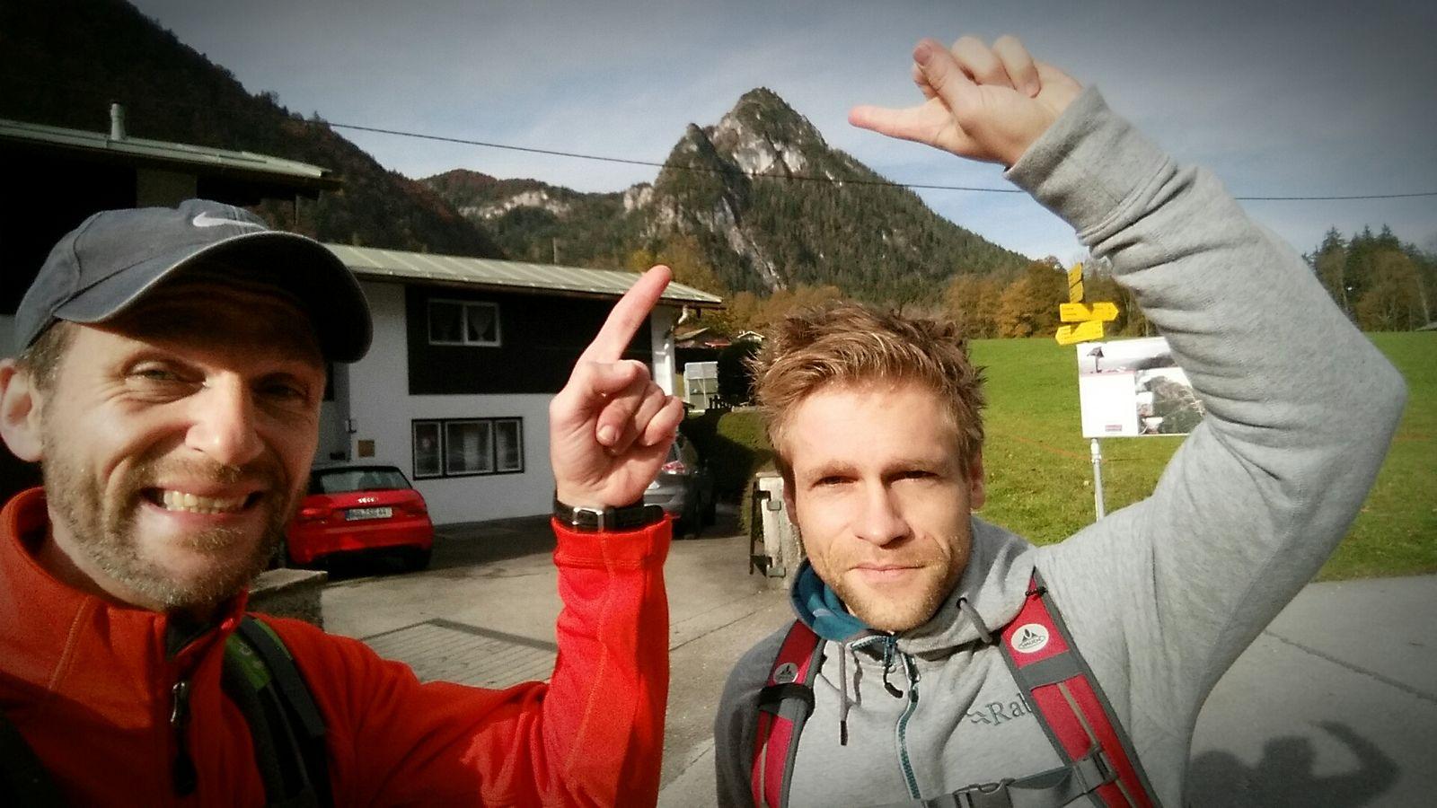 Da geht es hin! Training am Grünstein-Klettersteig 2016