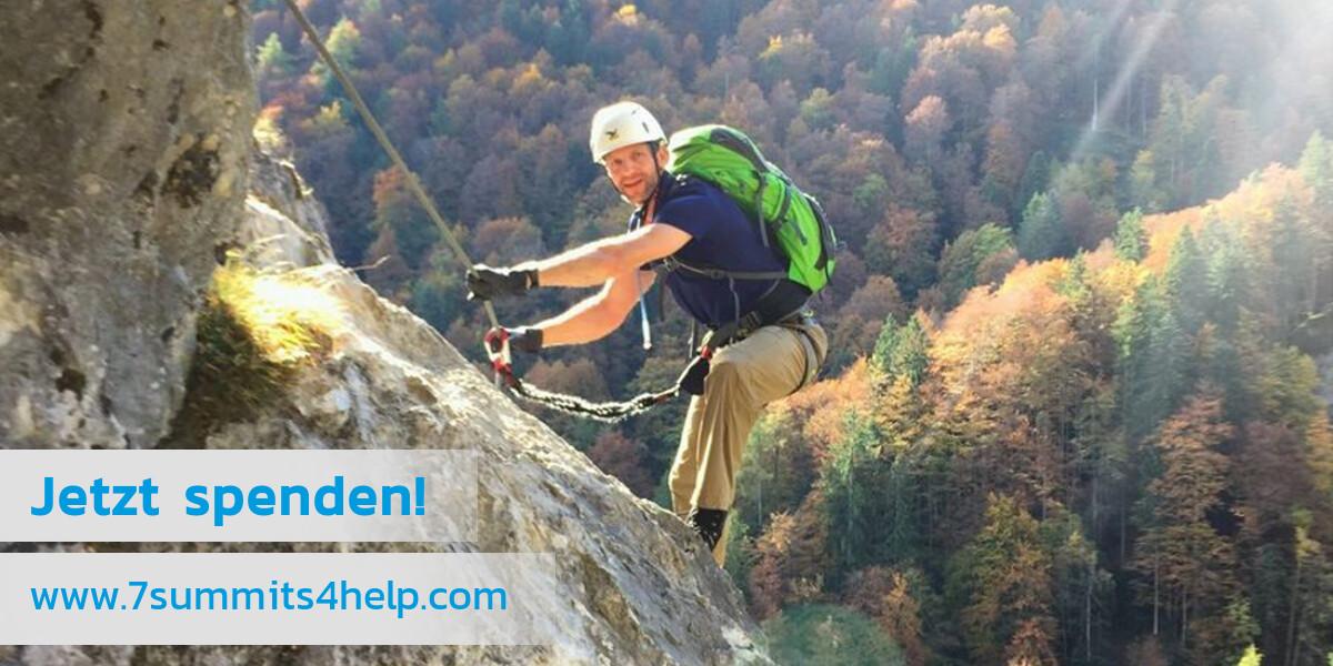 Bild: Vorbereitung auf den Aconcagua am Grünstein-Klettersteig mit Nicolas Scheidtweiler