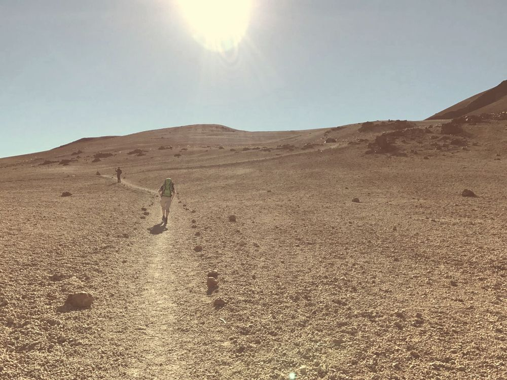 Auf dem Plateau - 7summits4help von Socorro Beach zum Teide Teneriffa