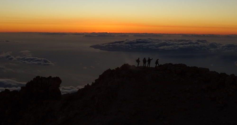 Der Sonnenuntergang - 7summits4help von Socorro Beach zum Teide Teneriffa
