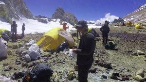 Abbau der Zelte im Camp Cólera