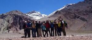 Gruppenbild mit Aconcagua 360 Grad 2016