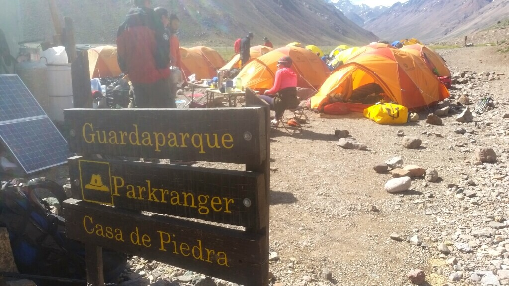 Ankunft in Casa de Piedra zum Aconcagua