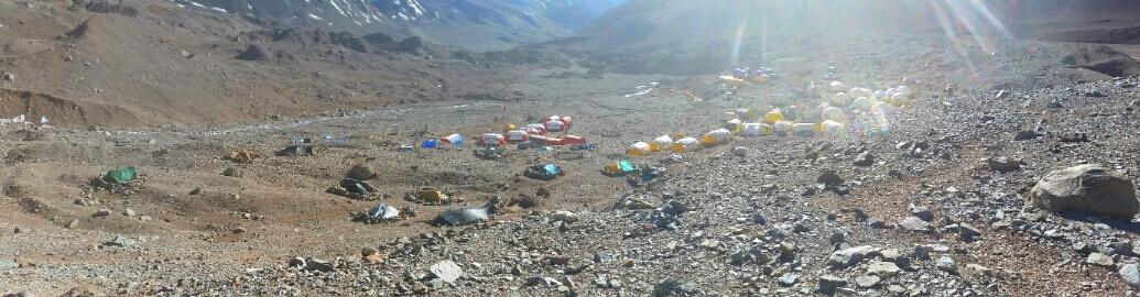 Das Basis-Lager Plaza Argentina von oben