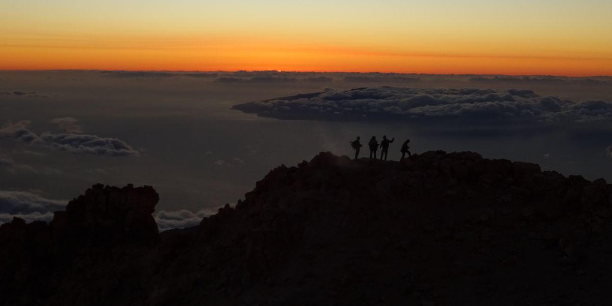Bild: Sonnenuntergang am Teide 2016