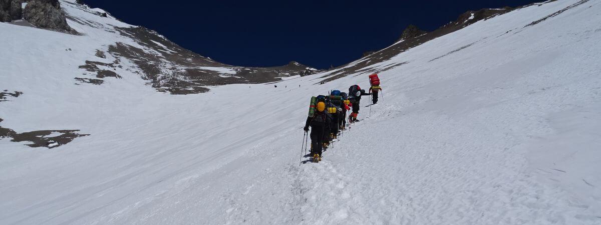 Auf dem Weg zu Camp 2