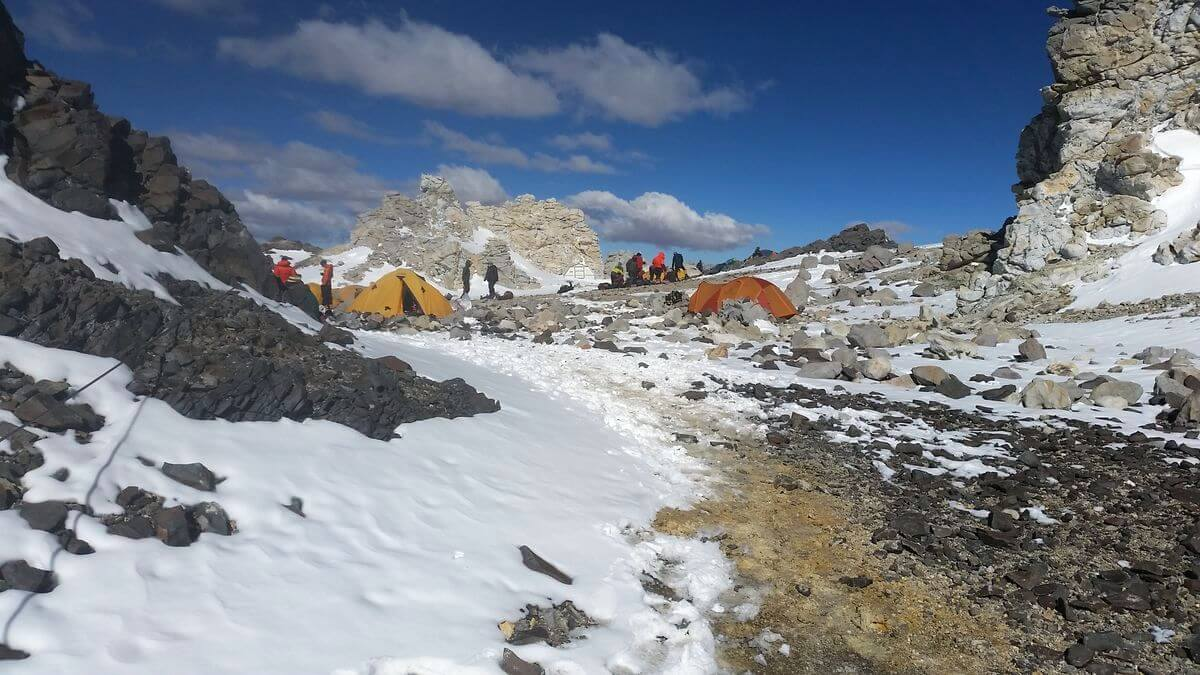 Blick in Camp 3 Cólera - Aconcagua 2016 7summits4help