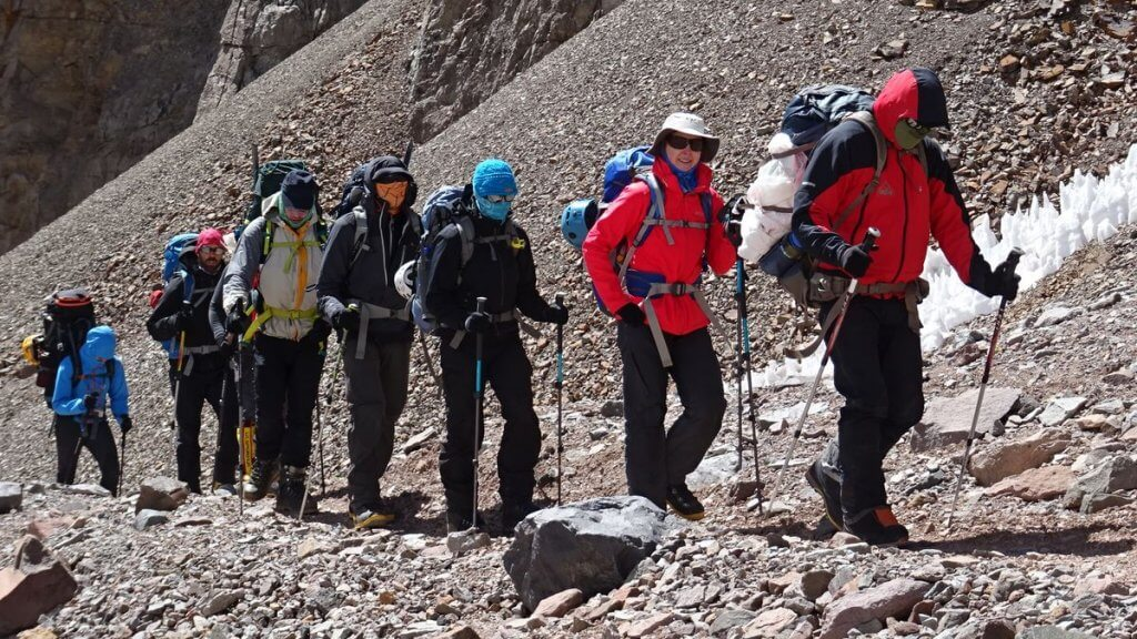 From Plaza Argentina to Camp 1 - Aconcagua 2016 7summits4help