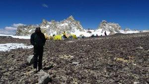 Nicolas Scheidtweiler in Camp 3 Cólera - Aconcagua 2016 7summits4help