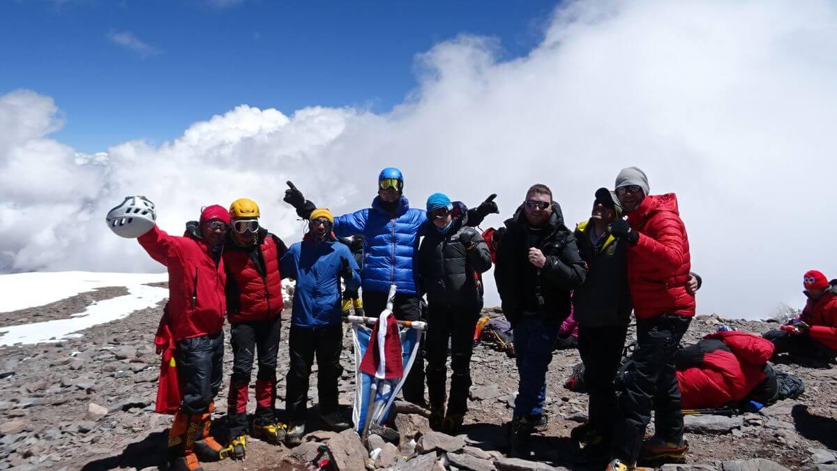 Unser Inka-Team auf dem Gipfel