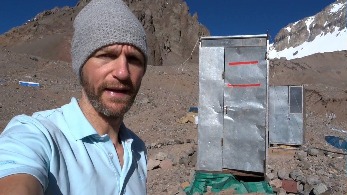 Toiletten im Basislager Plaza Argentina - Hygiene am Aconcagua 360 - 7summits4help