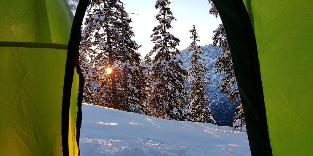 Der Blick aus dem Zelt auf den Geierköpfen | Training in den Alpen | 7summits4help