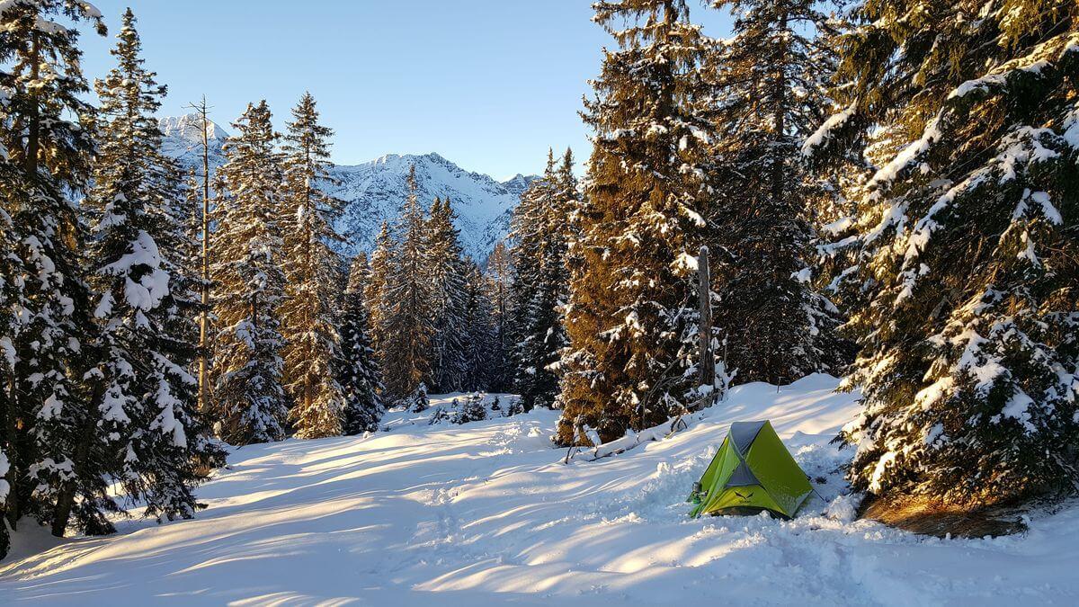 Das einsame Zelt