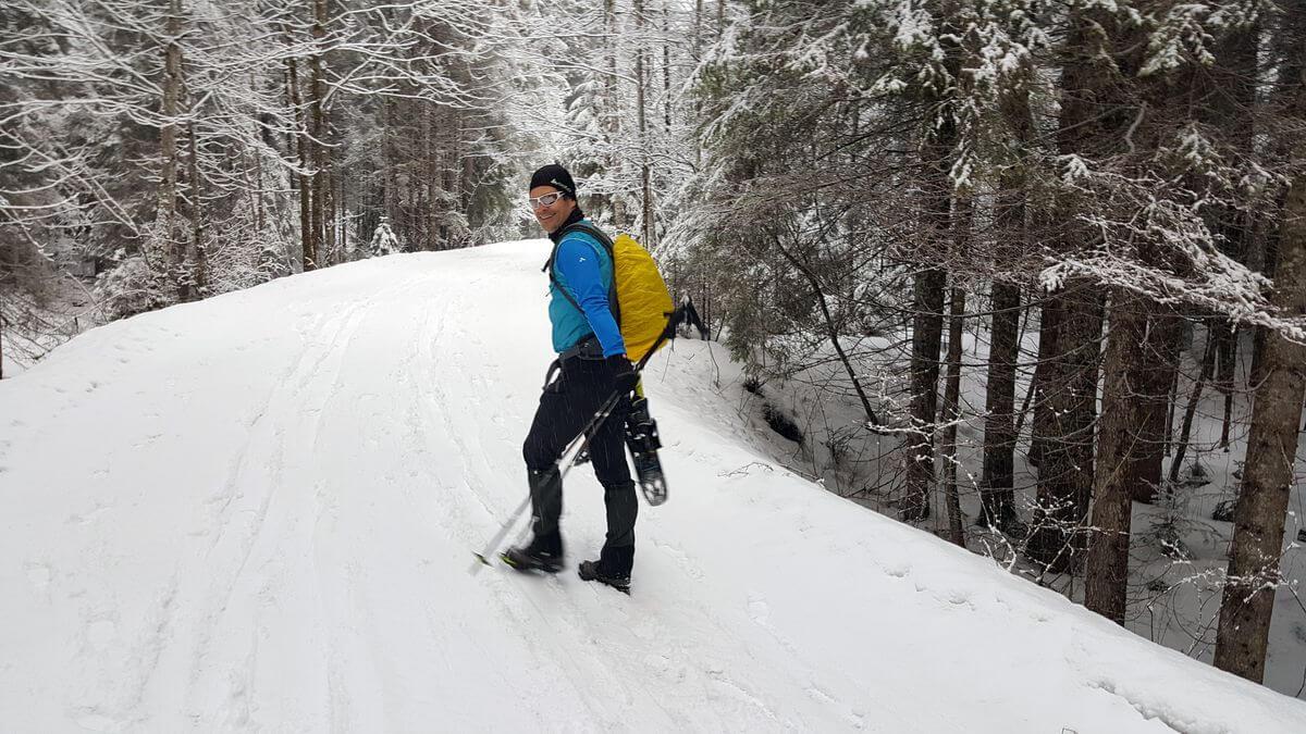 Markus Schaumlöffel aka Schwarzfuchs auf dem Weg zur Scheinbergspitze