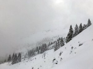 Schneeverhangene Berge