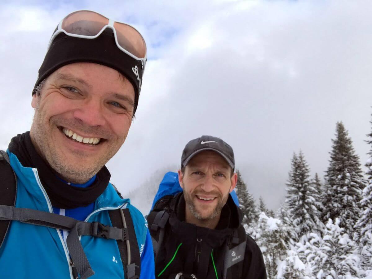 Das Schneeschuh-Team mit Markus und Nicolas