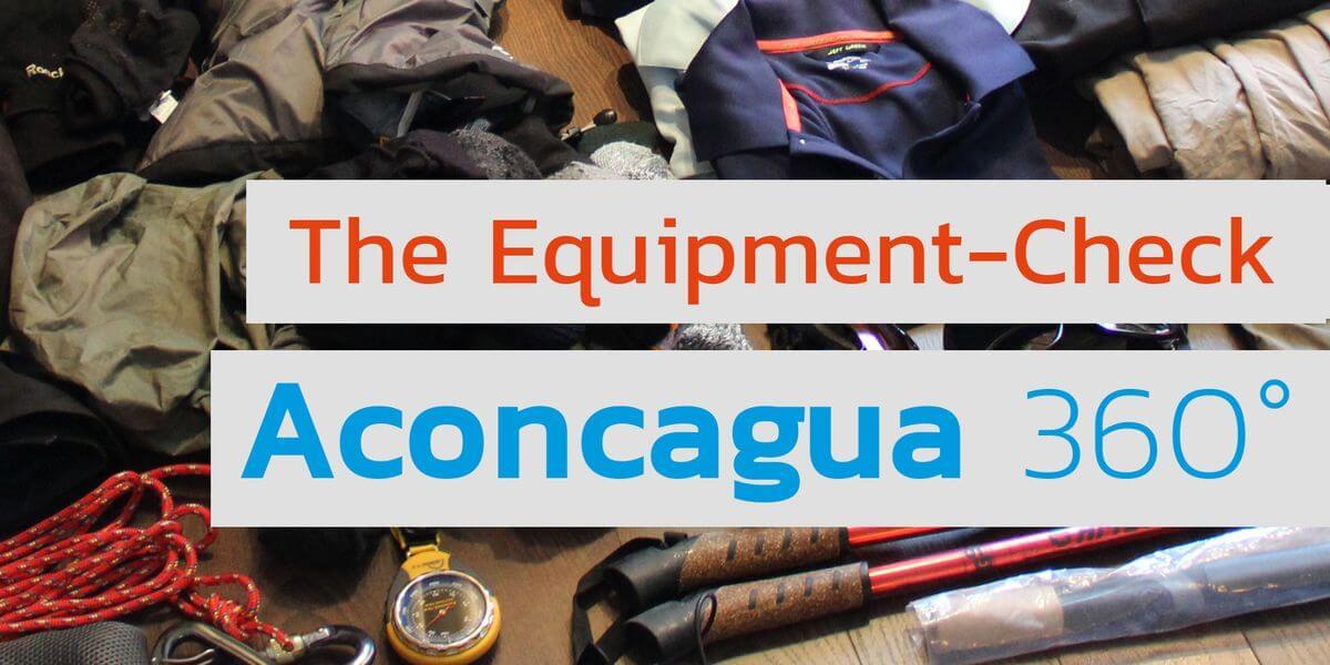 Der Check der Aconcagua-Ausrüstung bei Youtube von 7summits4help