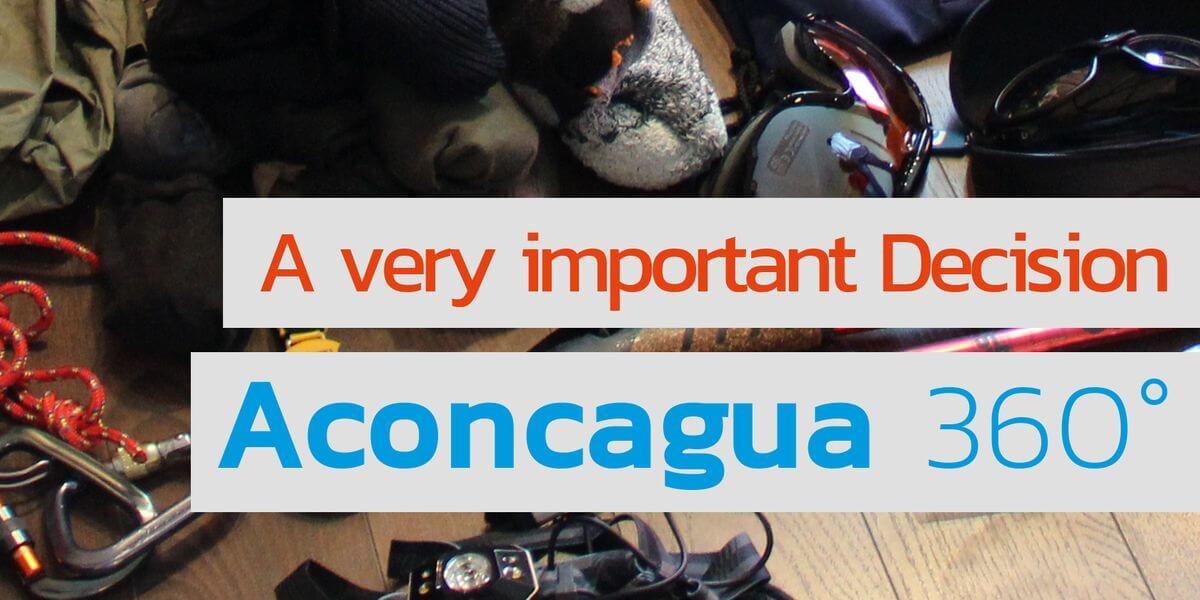 Alles an Ausrüstung für den Aconcagua dabei - Youtube von 7summits4help