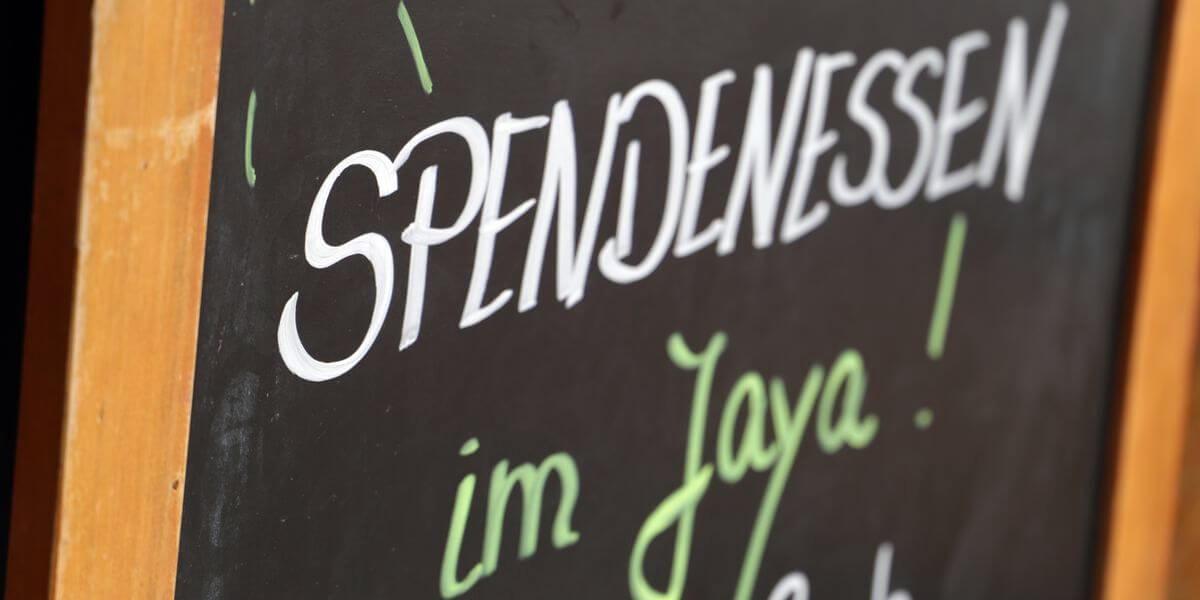 Begrüßung: JAYA und 7summits4help Spendenessen in der Überseestadt Bremen