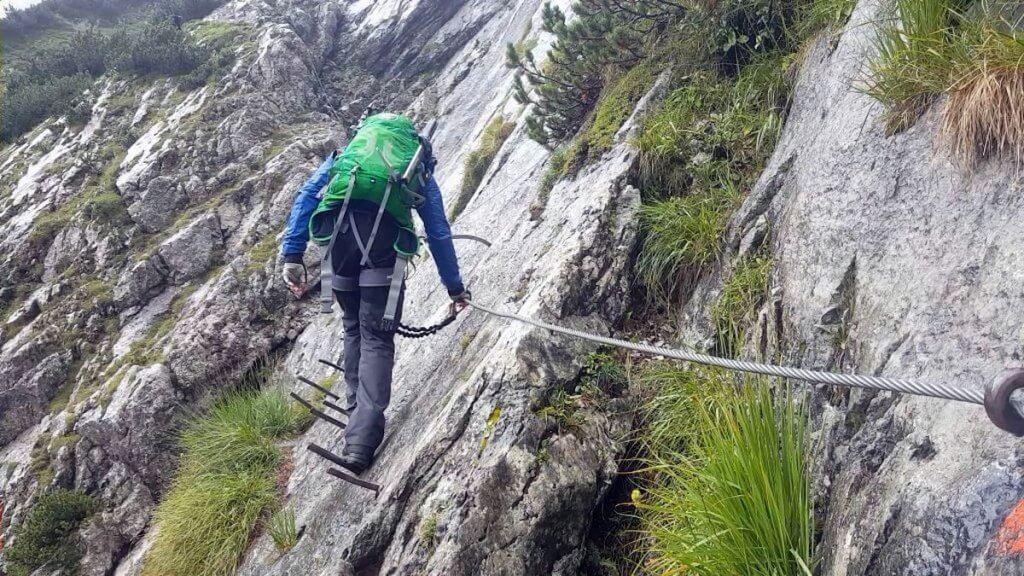 Klettersteig Niveaus : Zur zugspitze über höllental und klettersteig teil