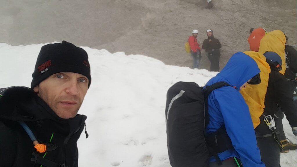 Vor der Randkluft - Zur Zugspitze via Höllental über Klettersteig -7summits4help-Blog
