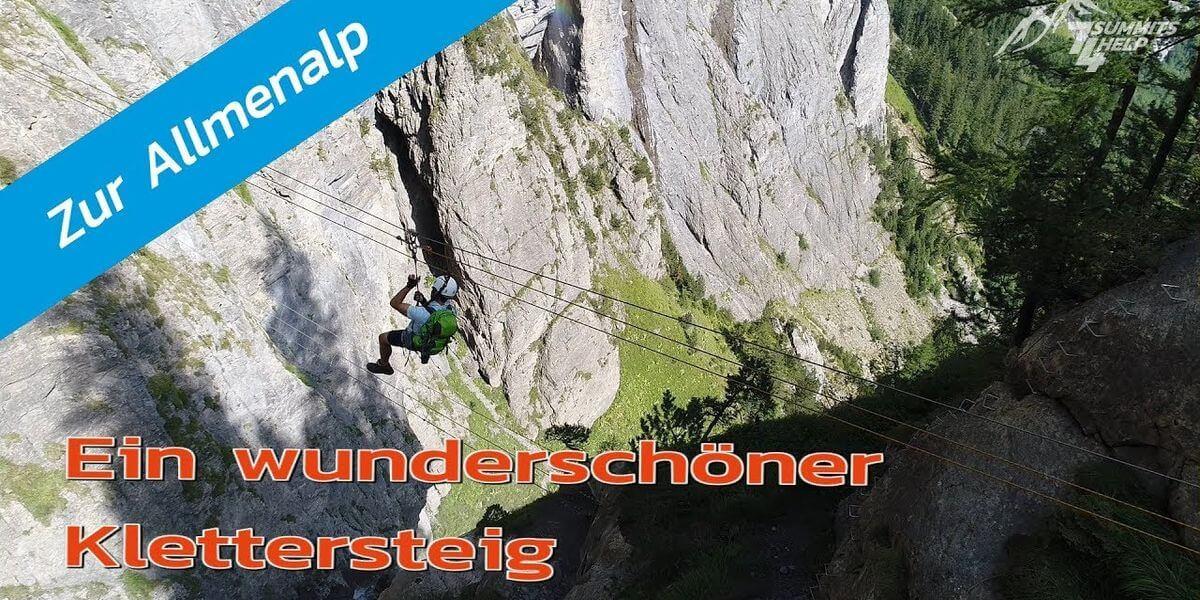 Drohnen-Blick auf den wunderschönen Kandersteg-Klettersteig - 7summits4help-Blog