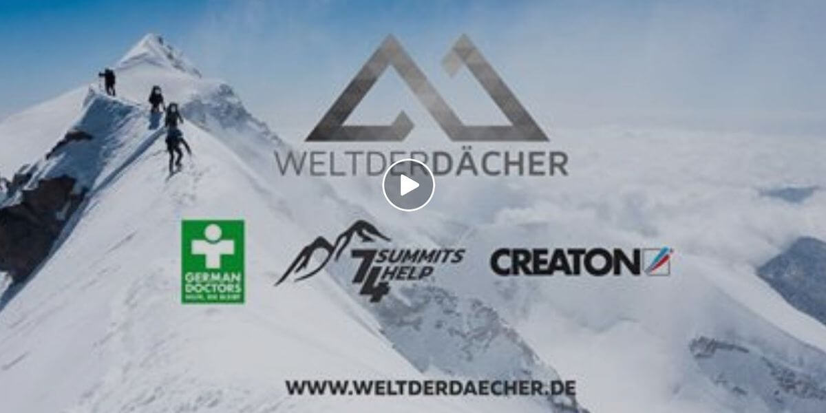 Die German Doctors und 7summits4help werden unterstützt durch die Kampagne Welt der Dächer von der Creaton AG. Der Film zeigt die Partner.