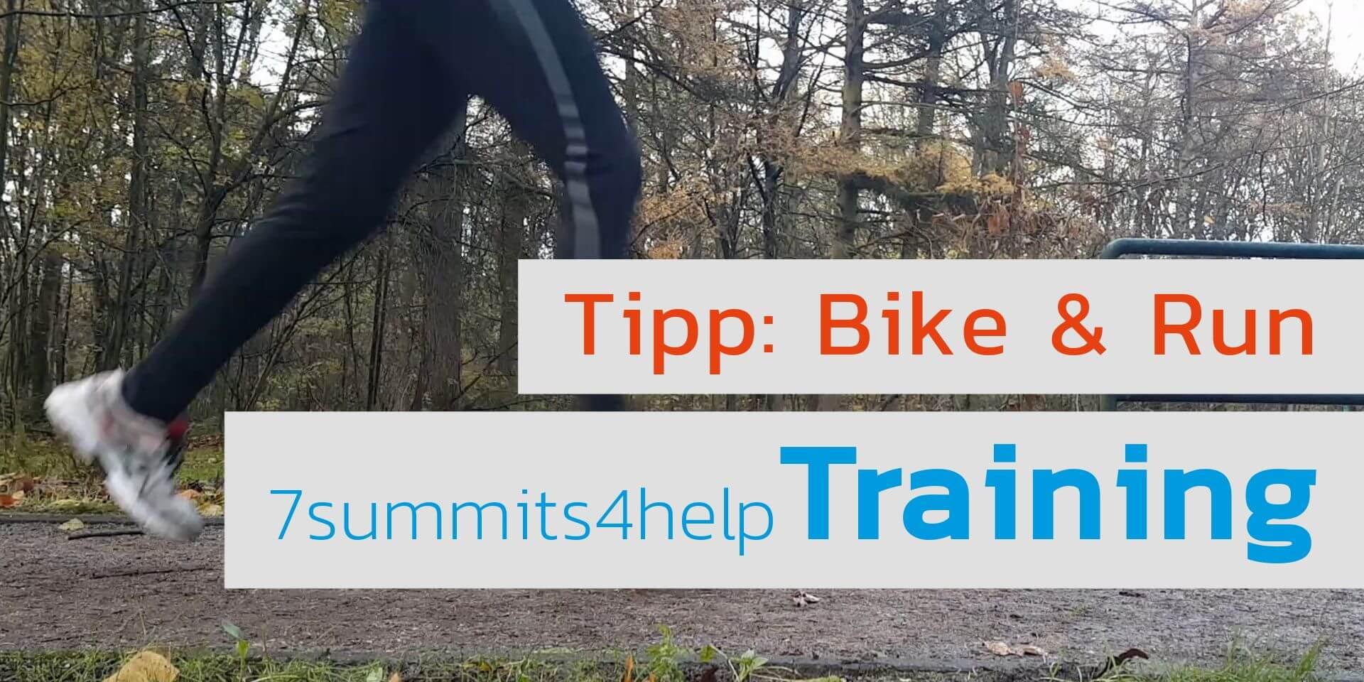 Trainingsmethode Bike and Run für das Bergsteigen und den Triathlon