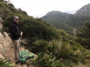 Nicolas bei der Vorbereitung an der Escalera Árabe
