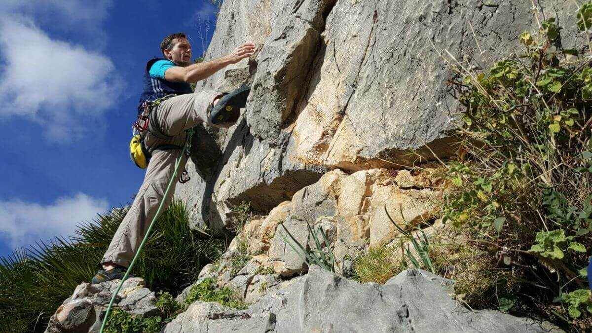 Nicolas im Boulder