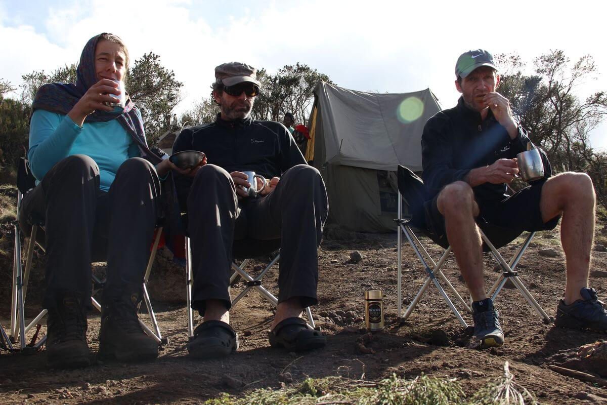 Abend-Kaffee im Kikelewa-Camp
