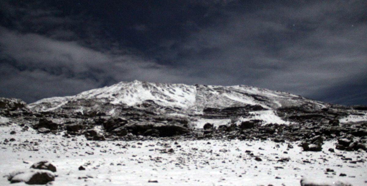 2 Uhr: Schnee auf dem Kibo