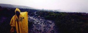 Innocent vorm Panorama der Horombo Hut