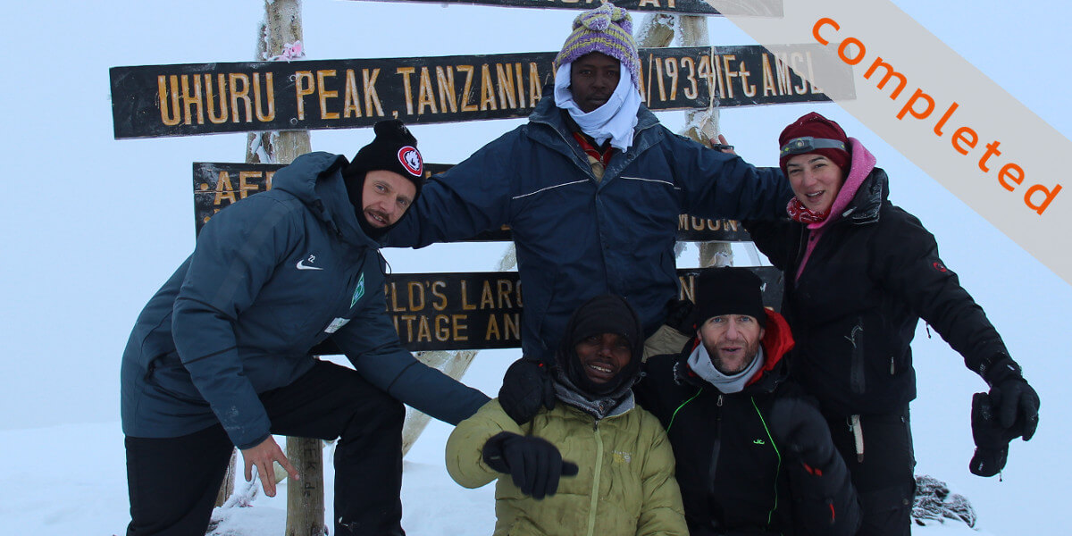 Kilimanjaro Uhuru-Peak - Mission completed 2018 - 7summits4help für die German Doctors
