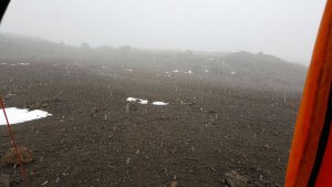 Leichter Schnee im Basislager