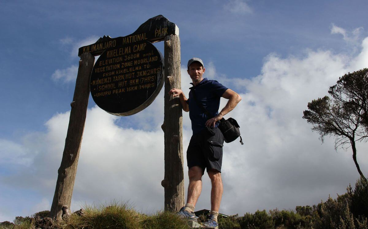 Nicolas Scheidtweiler kommt am Kikelewa-Camp an