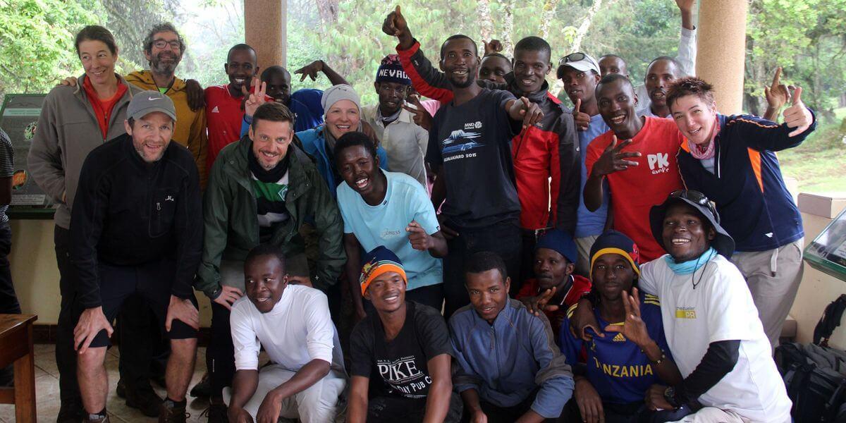 So lief der Weg von der Horombo-Hut zum Marangu-Gate - 7summits4help auf dem Kilimanjaro via Rongai-Route