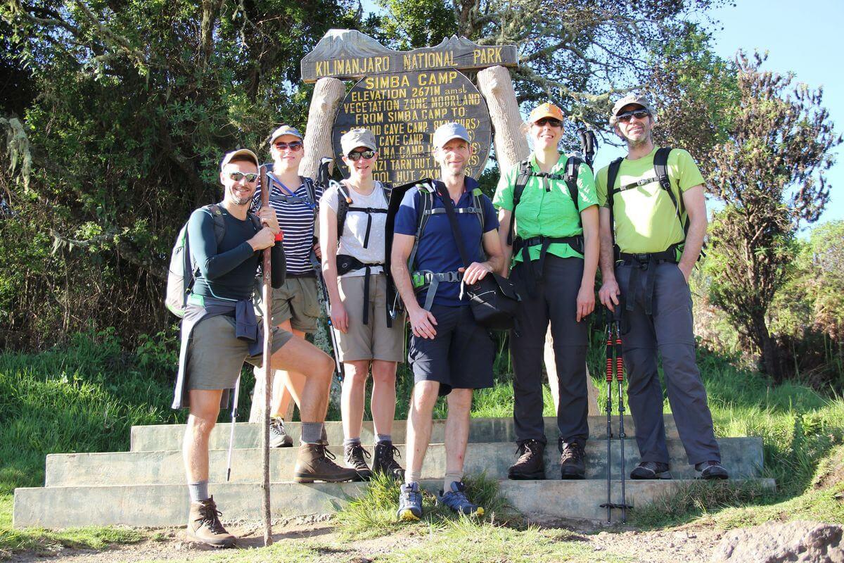 Team-Start am Simba-Camp