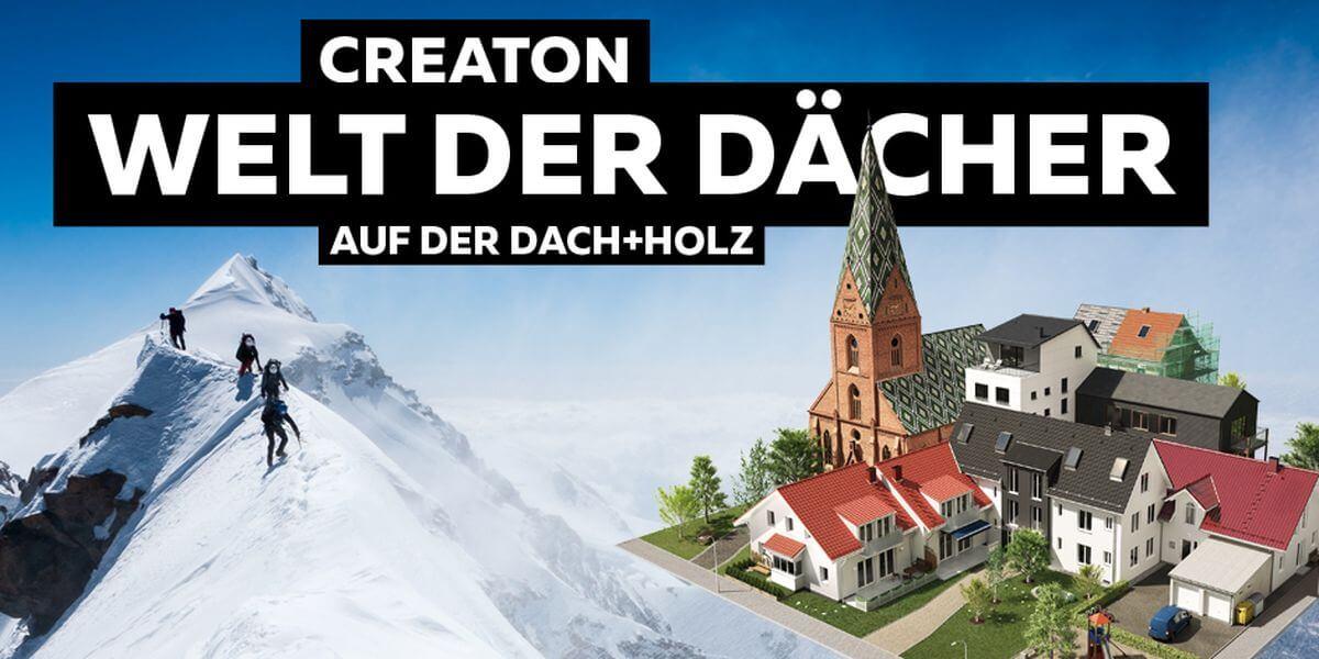 Foto-Aktion für #7summits4help auf der Messe Dach+Holz in Köln von Creaton für Welt der Dächer
