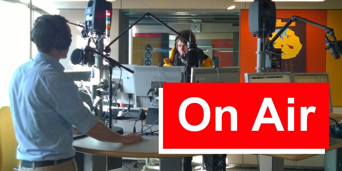 Nicolas Scheidtweiler bei Radio Bremen Vier Zebra forscht - Teil 1 - 7summits4help-Blog