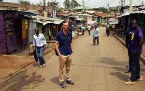 Ich im Mathare Valley Nairobi
