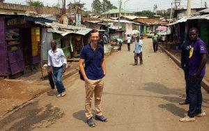 Ich im Mathare Valley Nairobi