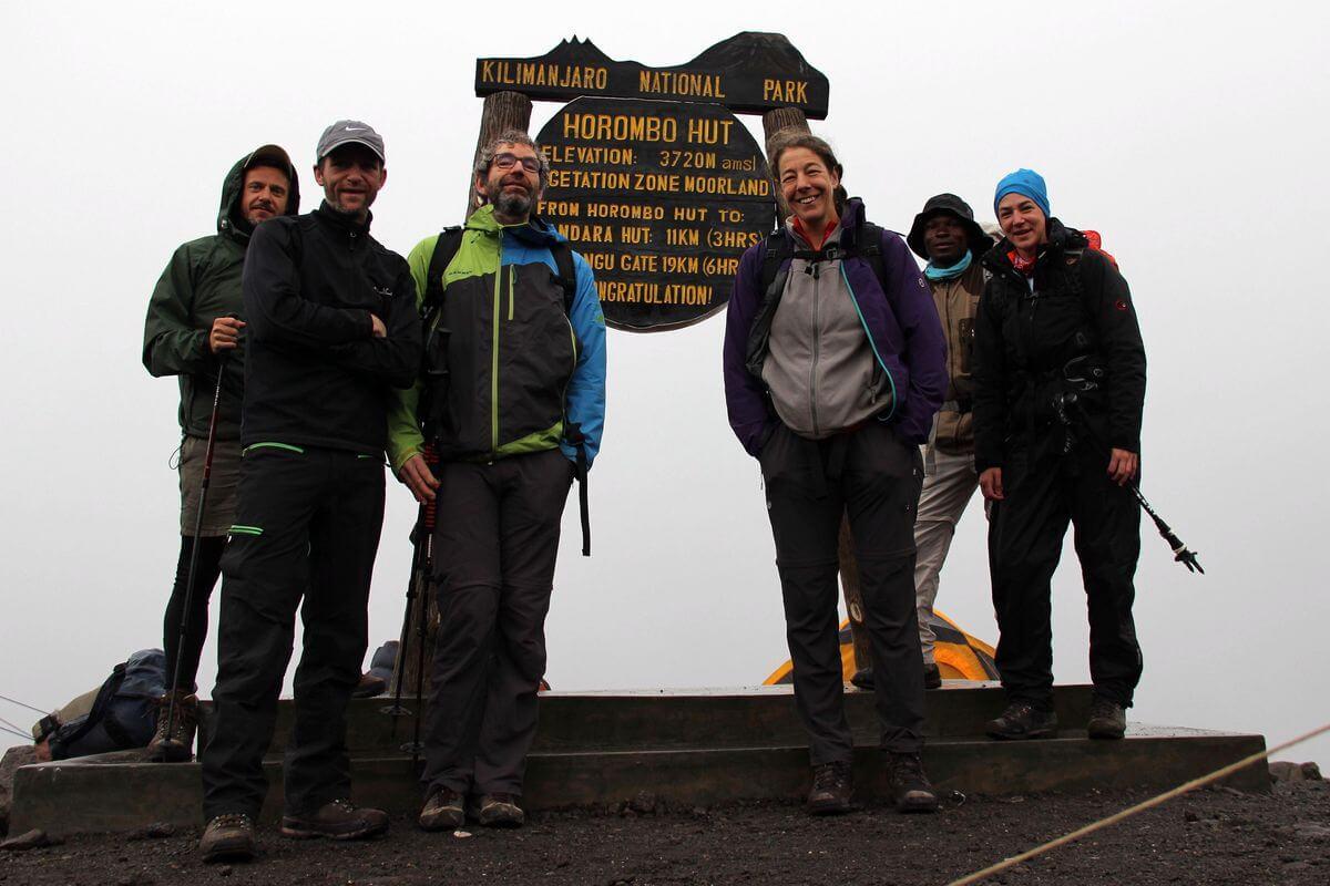 Start an der Horombo-Hut - 7summits4help auf dem Kilimanjaro via Rongai-Route