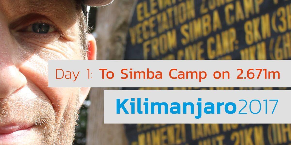 1.000 US-Dollar sind eine Menge Holz für den Nationalpark - 7summits4help Kili Simba Camp