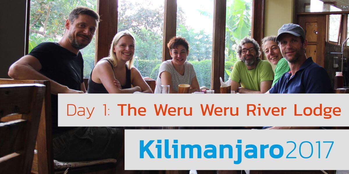 Frühstück - 7summits4help Kili in der Weru Weru River Lodge